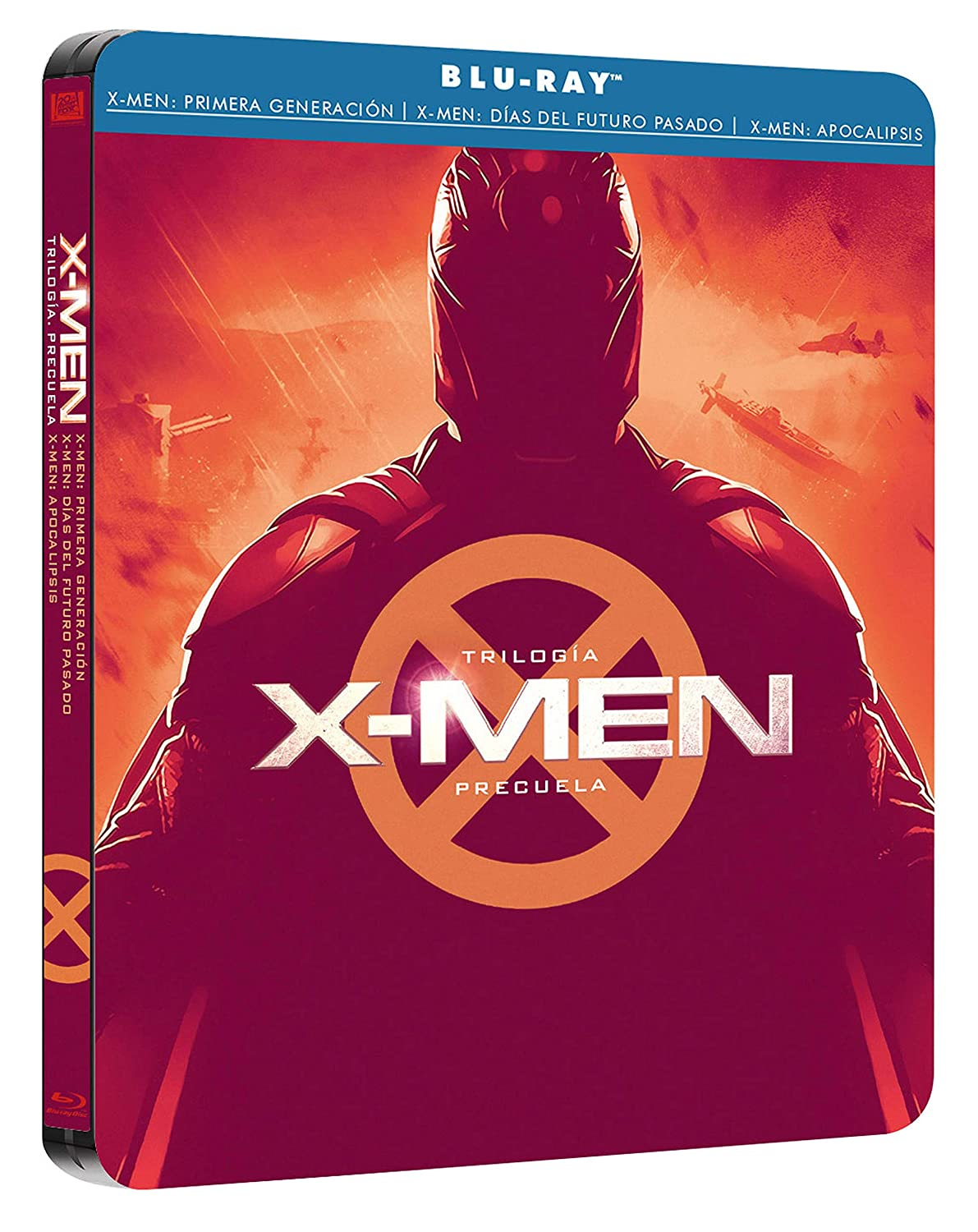 Pack X-Men Trilogía Precuela Black Mtl Ed Blu-Ray Blu-ray: Amazon ...
