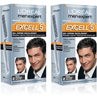 loral men expert excell 5 coloration homme sans ammoniaque brun profond naturel 2 - Gel Colorant Cheveux Homme