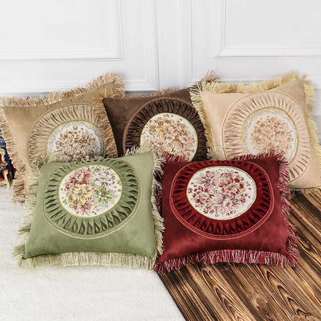 GHKLGY (2PCS) funda de cojín del sofá del paño del hogar de la funda de almohada , D