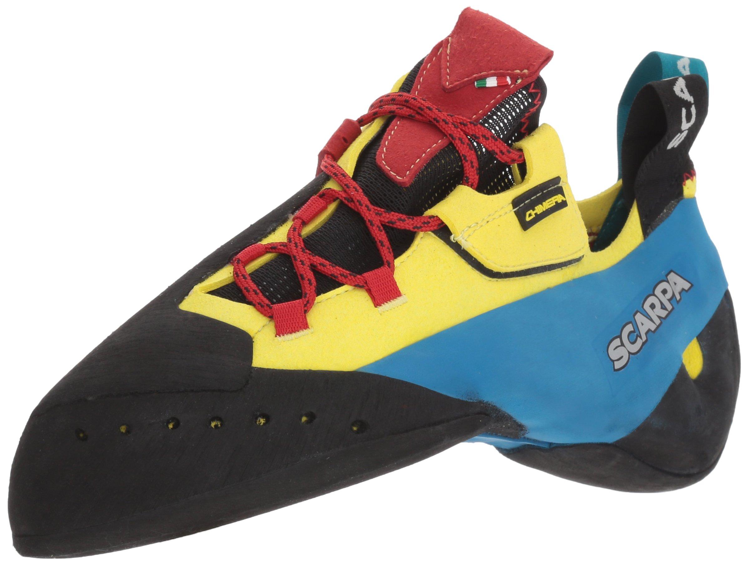 SCARPA Chimera Rock Climbing Shoe, Yellow, 41.5 EU/8.5 M US