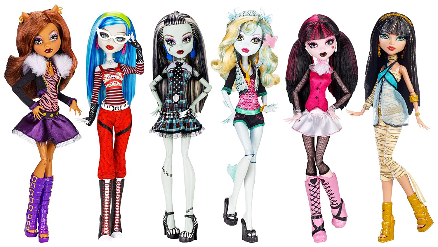 Amazoncom Monster High Dolls Original Ghouls Collection