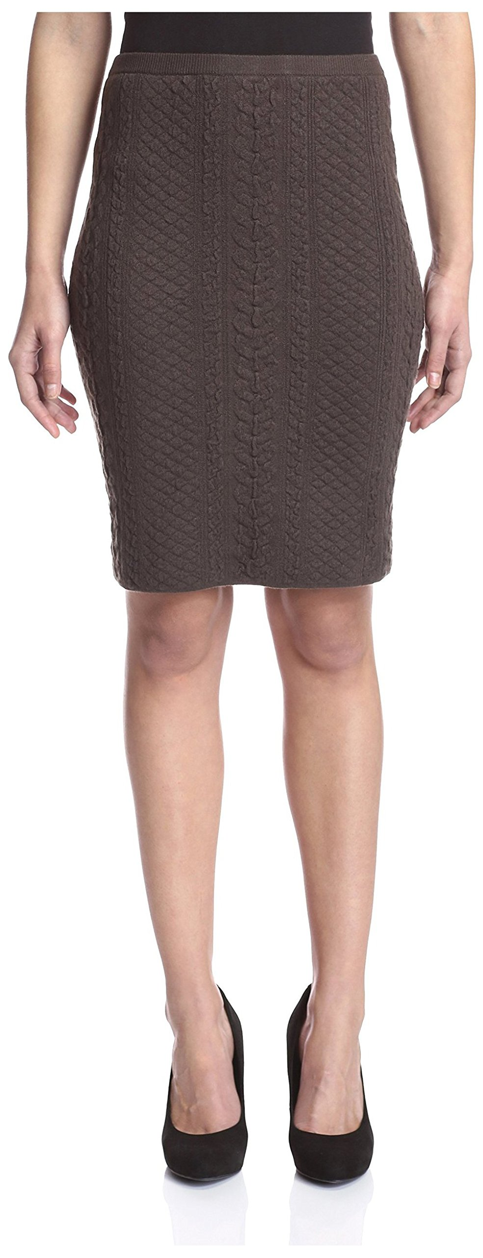 Natori Women's Knit Pencil Skirt, Stone, L by Natori