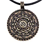Amazon Price History for:Paw Paw House Yoga Inspired Om Lotus Mandala Necklace Pendant for Women Men Tibetan Buddhist Protection Jewelry