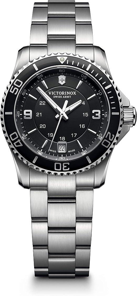 Amazon.com: Victorinox Swiss Army Maverick Stainless Steel Women's Watch,  34mm, Blue: Watches