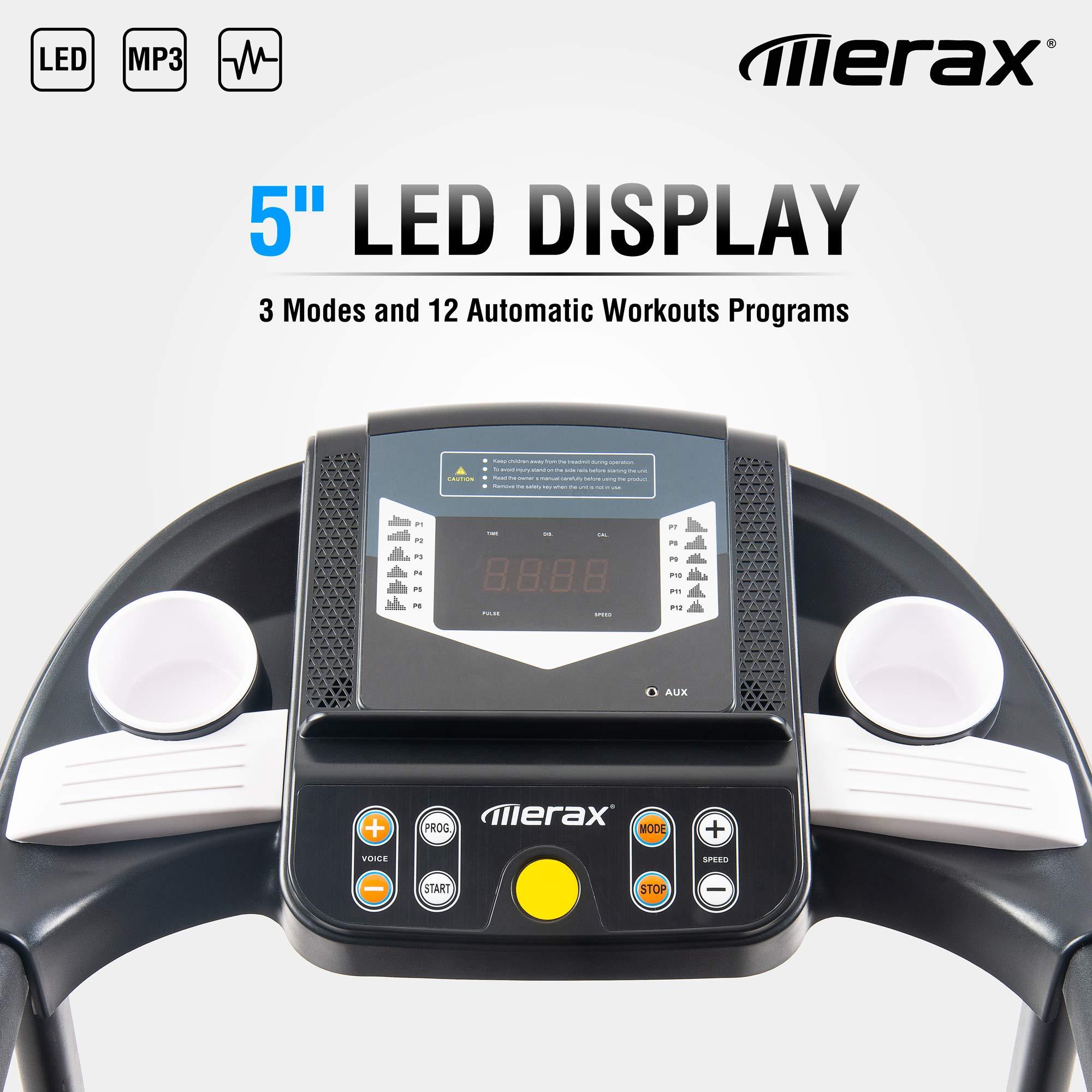 Merax Easy Assembly Folding Electric Treadmill Motorized Running Machine by Merax (Image #8)
