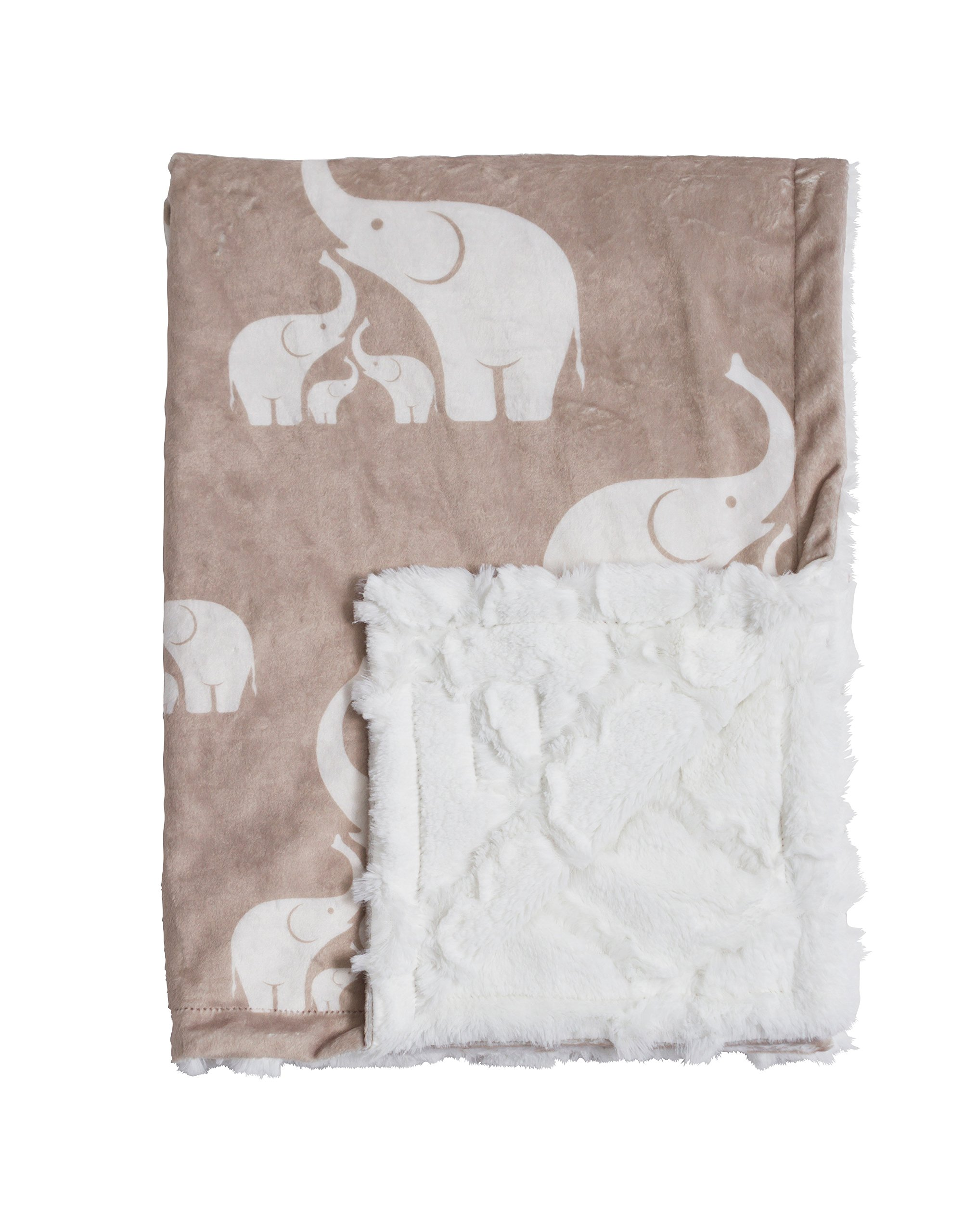 Baby Laundry Patterned Baby & Blanky for Boys & Girls - Linen Elephant (Baby 27''x36'')