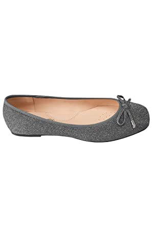 best site offer fresh styles Yours Clothing Wide Fit Women's Shimmer Ballerina Pumps In Eee Fit
