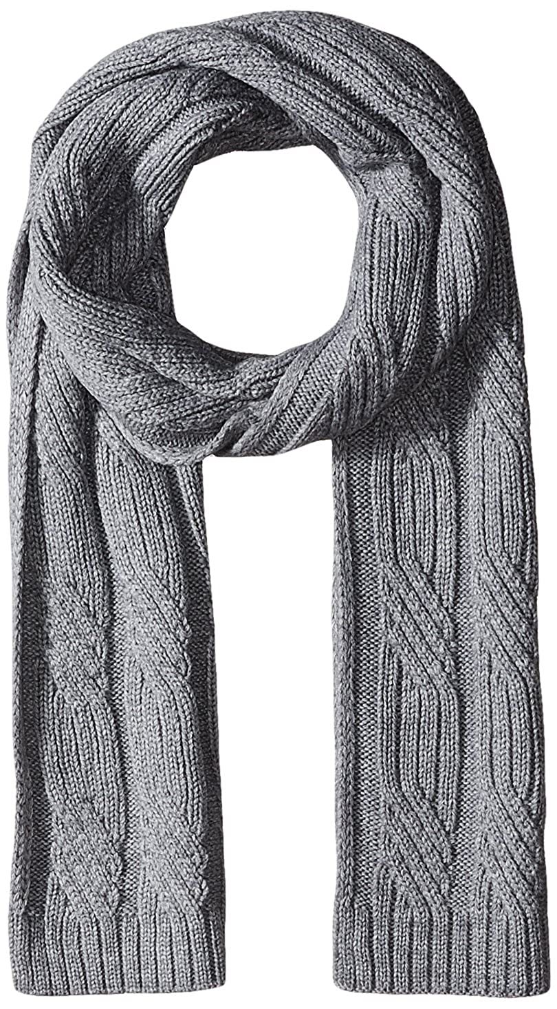 Nautica mens Cable Knit Scarf Black One Size 16772