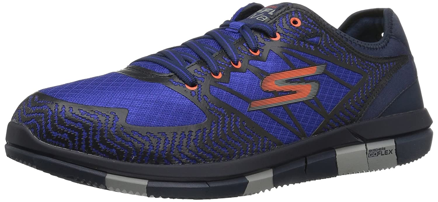 Skechers Performance Men's Go Flex Aviator Walking Shoe 9.5 D(M) US|Navy/Orange