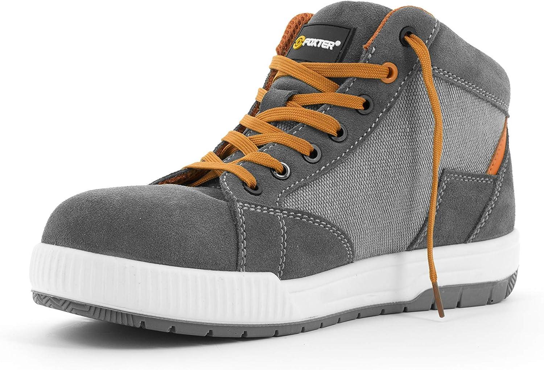 Chaussures de s/écurit/é S1P SRC Baskets de Travail Basses Hommes R/ésistant L/ég/ères et Respirantes Foxter