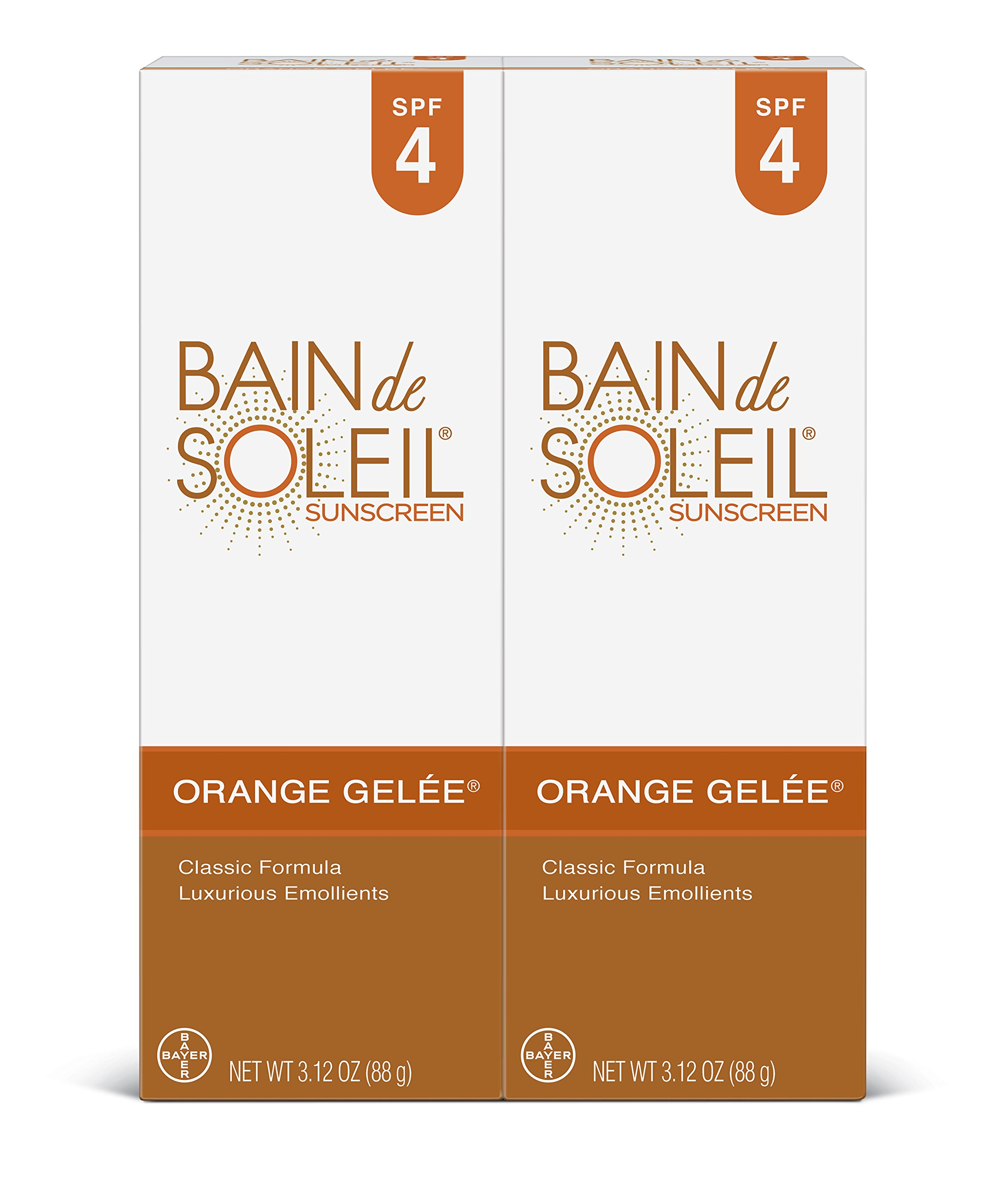 Bain de Soleil Orange Gelee Sunscreen, 3.12 oz (Pack of 2) by Bain De Soleil