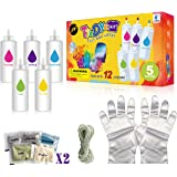 Tie Dye Kit, Upgraded Formulas No Fading Clothes Fabric Textile Paints Colorful Tie-Dye Sets for Kids and Adults DIY Arts Cra