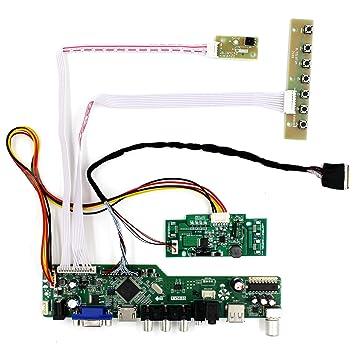 HDMI + VGA + AV + tarjeta del regulador del LCD de la ...
