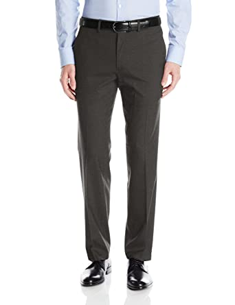06c86e0aa025 J.M. Haggar Men s Premium Stretch Plain-Front Flex-Waistband Straight-Fit Dress  Pant