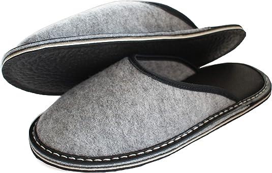 Taille 50 Semelle en Gomme Chaussures Maison pour Hommes Revise Pantoufles en Feutre