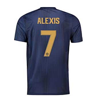 945afdd00 Manchester United FC Official Football Gift Mens Third Away Kit Shirt 2018  2019 Navy Blue  Amazon.co.uk  Clothing
