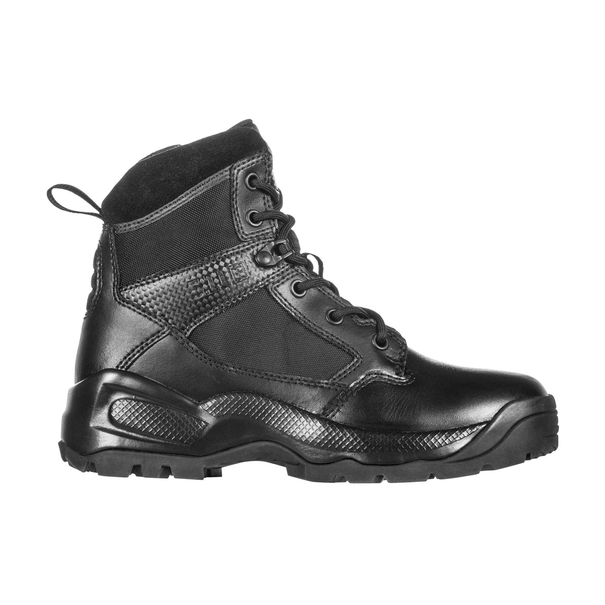 5.11 Women's ATAC 2.0 6'' Tactical Side Zip Military Combat Boot, Style 12404, Black, 5 D(M) US by 5.11