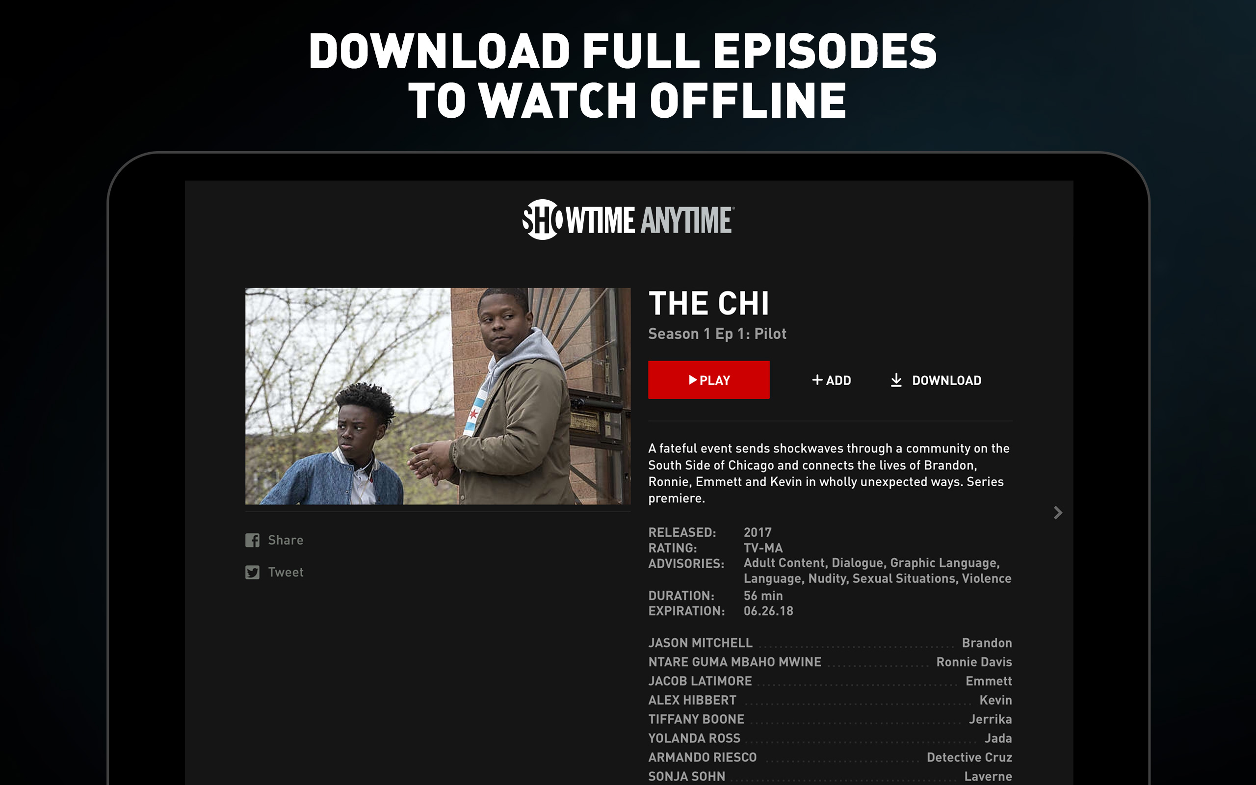 how to download showtime anytime app