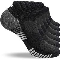 LANYI Ankle Running Socks Men Women Low Cut Sports Athletic Cushioned Tab Socks 6 Pairs