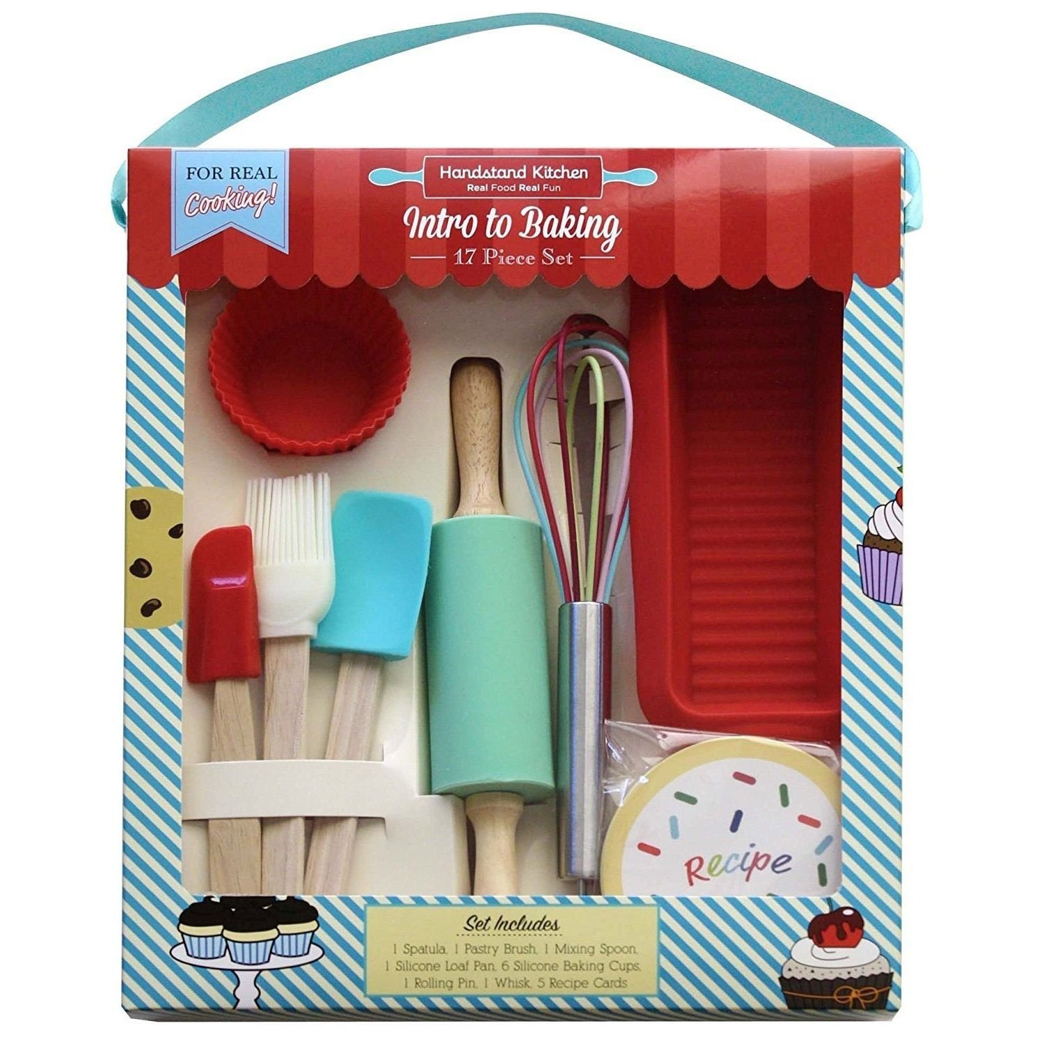 Handstand Kitchen 17piece Introduction to Baking Set for Kids by Handstand Kitchen