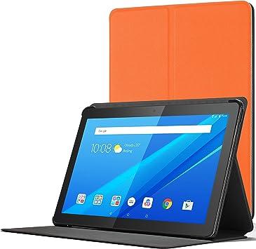 Forefront Cases Funda para Lenovo Tab M10, Cover Estuche Protector con Cierre Magnético para Lenovo Tab M10 10.1 Pulgadas, NO SE Ajusta Lenovo Smart Tab M10 HD, Naranja: Amazon.es: Electrónica