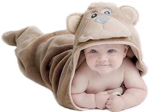 2 opinioni per Little Tinkers World Asciugamano Orso per Bambini EXTRA SOFFICE- Asciugamano da