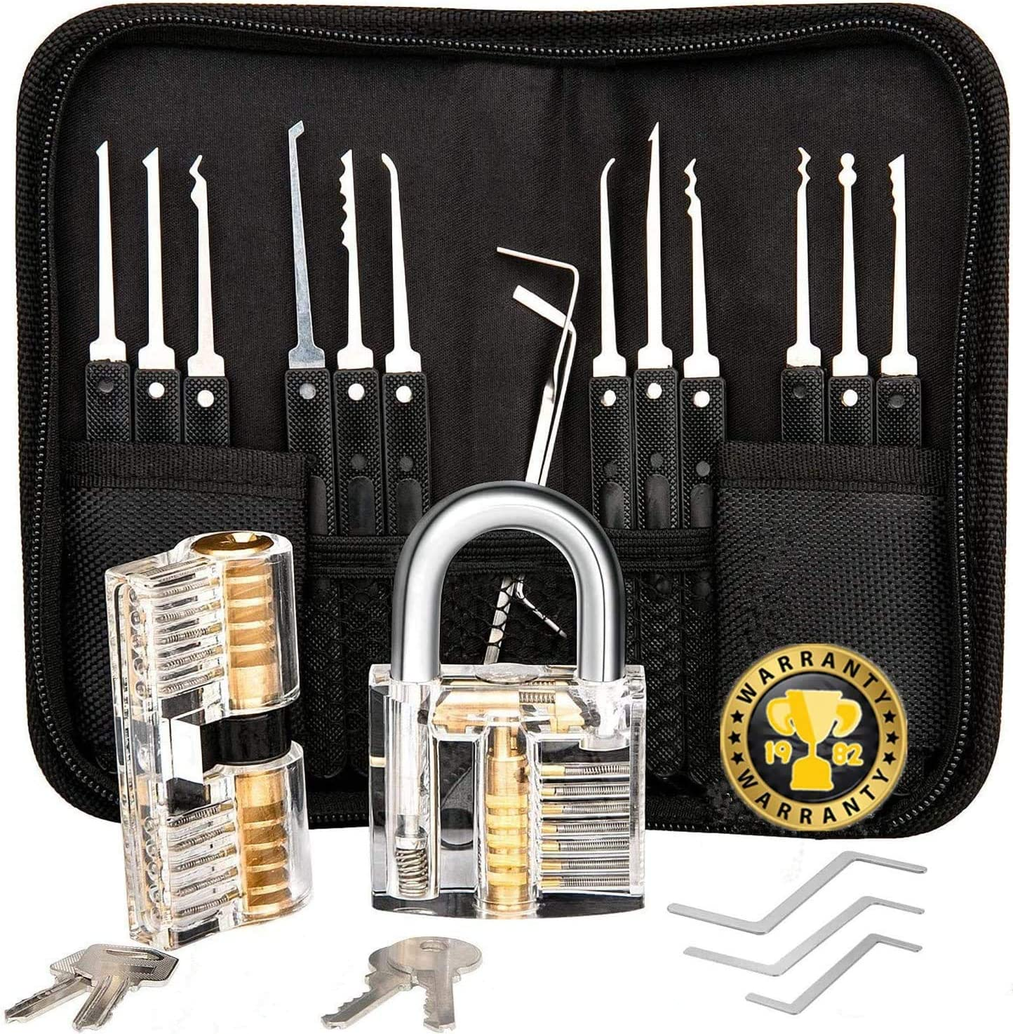 Multi-Function Tool Set-Stainless Steel, Specially Designed Training kit, Professional 17 PCS, with 3 Locks (Black)