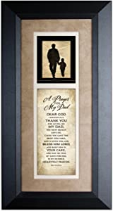 James Lawrence A Prayer for My Dad Wood Wall Art Frame Plaque | 8 inches x 16 inches | Hanger for Hanging | Dear God I Gratefully Thank You for Giving me My dad | Father Prayer by Dexsa