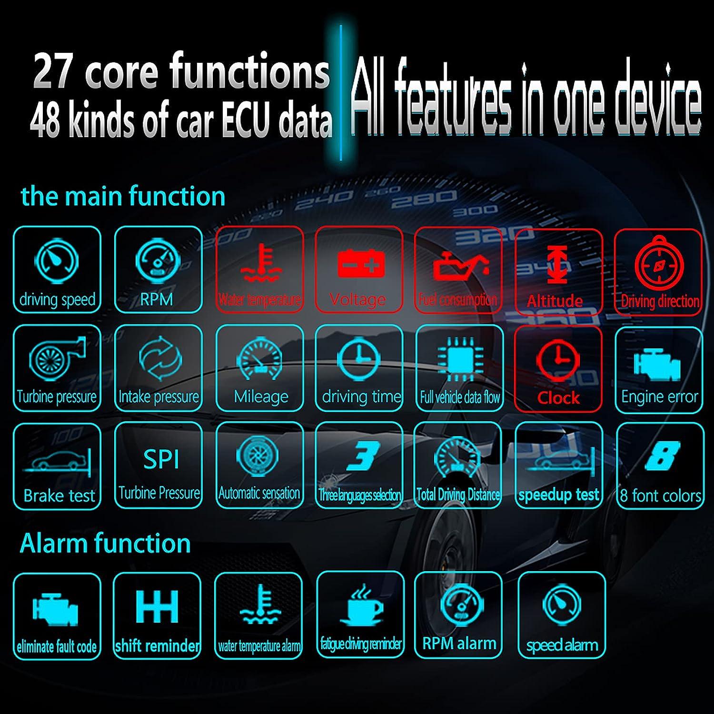 """Electronics Overhead Video Head Up Display 5""""HD Car HUD Mirror ..."""