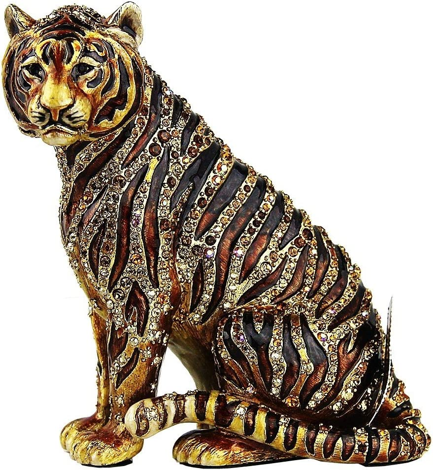 Jay STRONGWATER Jungle Parker Sitting Tiger Figurine Made in USA