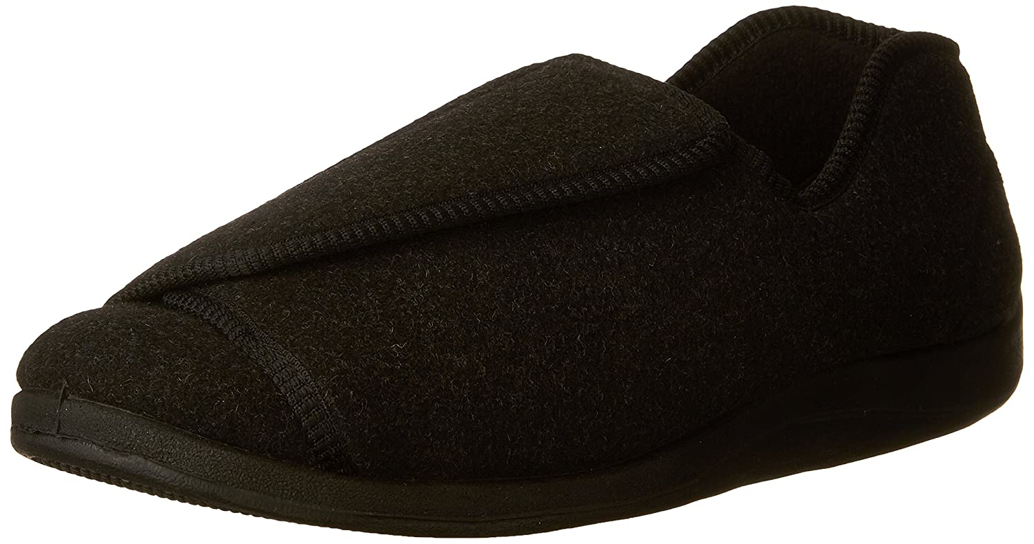 eaa74a30dbe FLY HAWK Mens Cozy Knitted Cotton Slippers Anti-Skid Memory Foam Indoor   Outdoor