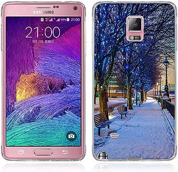 FUBAODA Funda para Samsung Galaxy Note 4 Serie Hermosa y romántica del Paisaje,Resistente a los arañazos en su Parte Trasera,Funda Protectora Anti-Golpes para para Samsung Galaxy Note 4(N9100): Amazon.es: Electrónica
