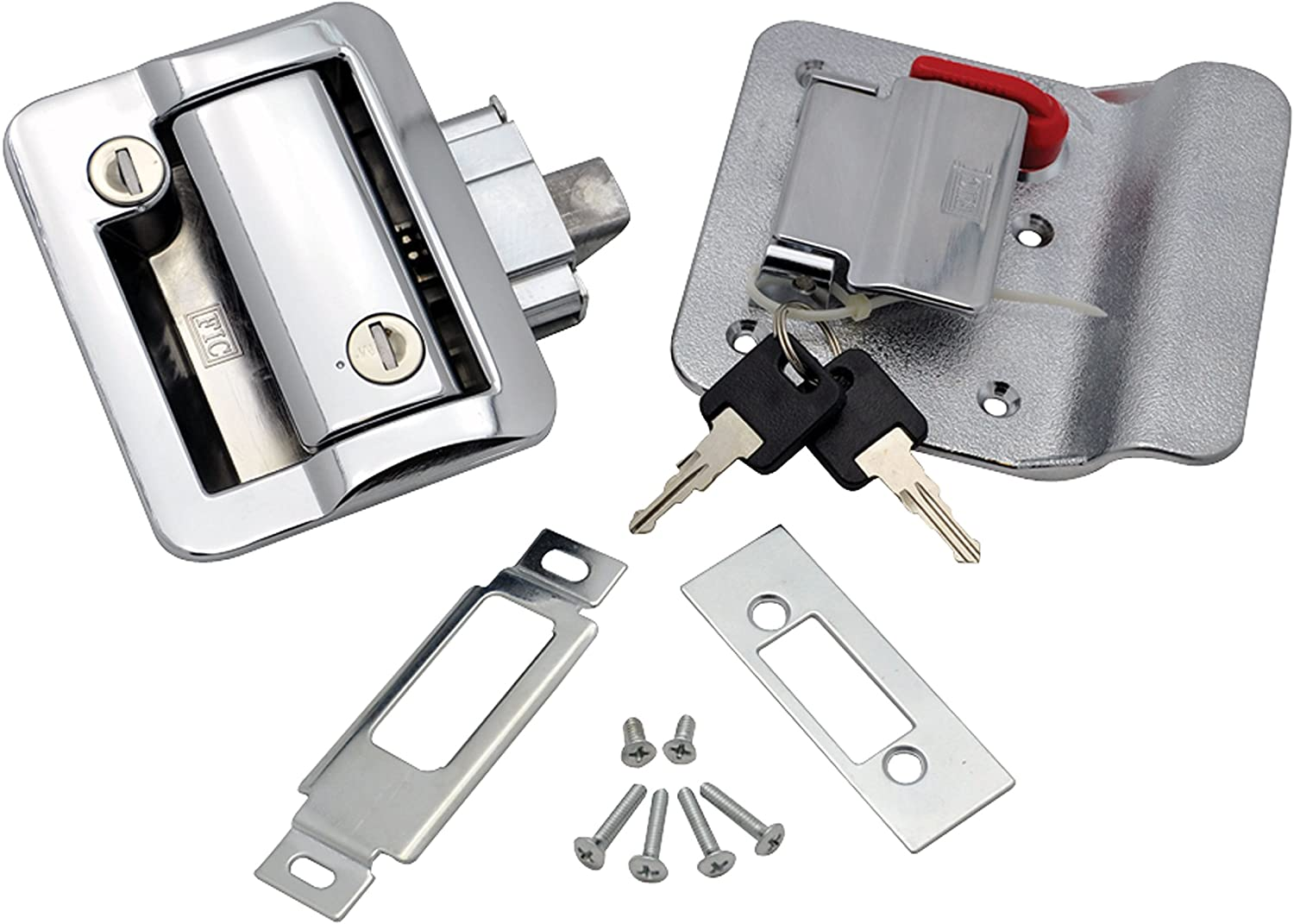 Fastec 1007.1076 Industrial 43610-09 FIC Travel Trailer Lock with Deadbolt-White