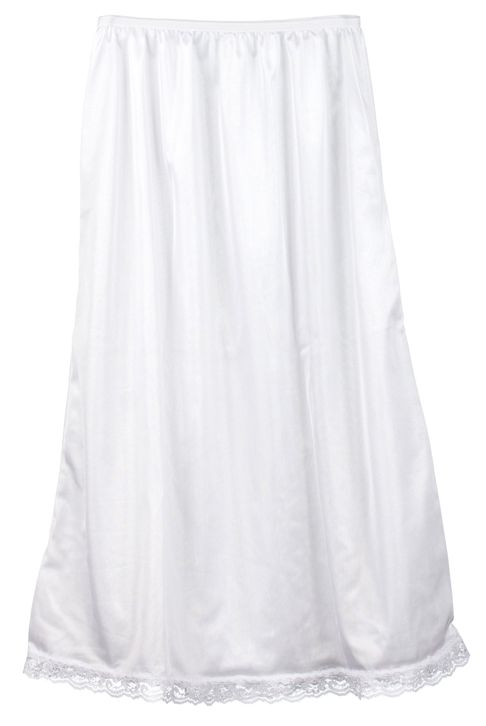 I.C. Collections Big Girls White Nylon Half Slip - Tea Length, 12