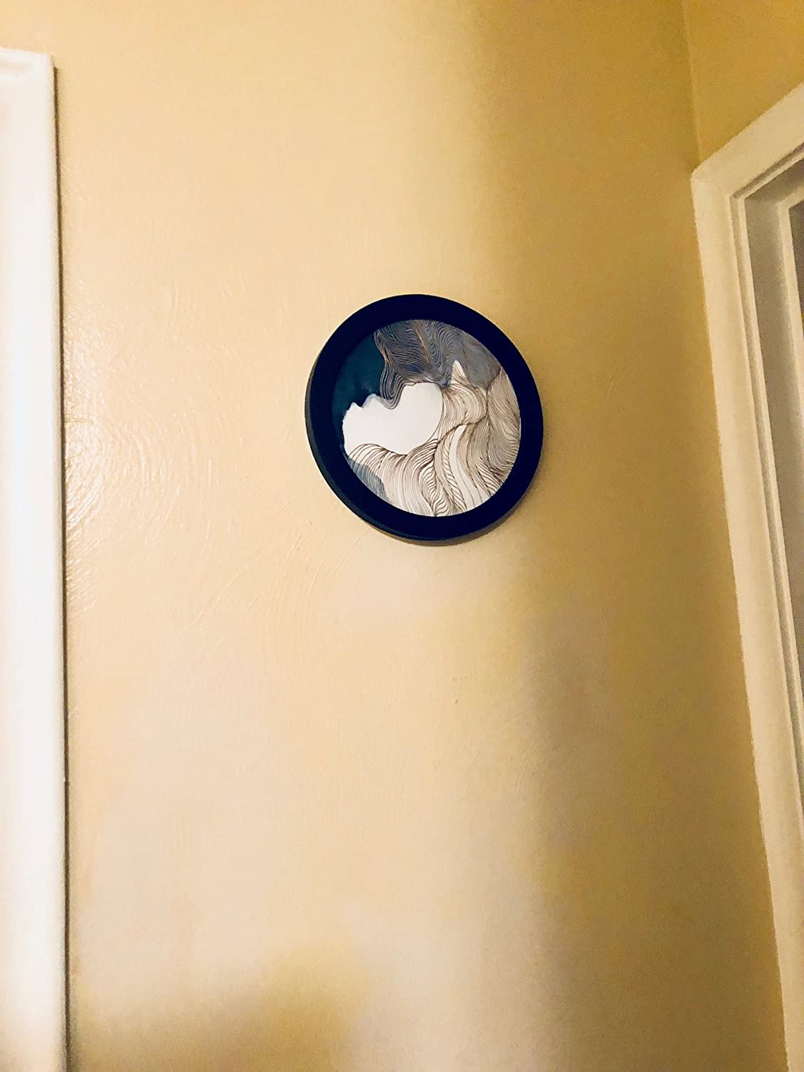 Amazon.com: Round Wood Frame / Acrylic Cover & Removable Canvas ...