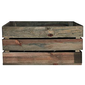 Decoración Vintage Gaby Caja, Madera, Marrón, 50x32x25 cm: Amazon.es: Hogar