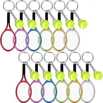 Amazon.com: BBTO - Llavero de tenis con forma de raqueta, 12 ...