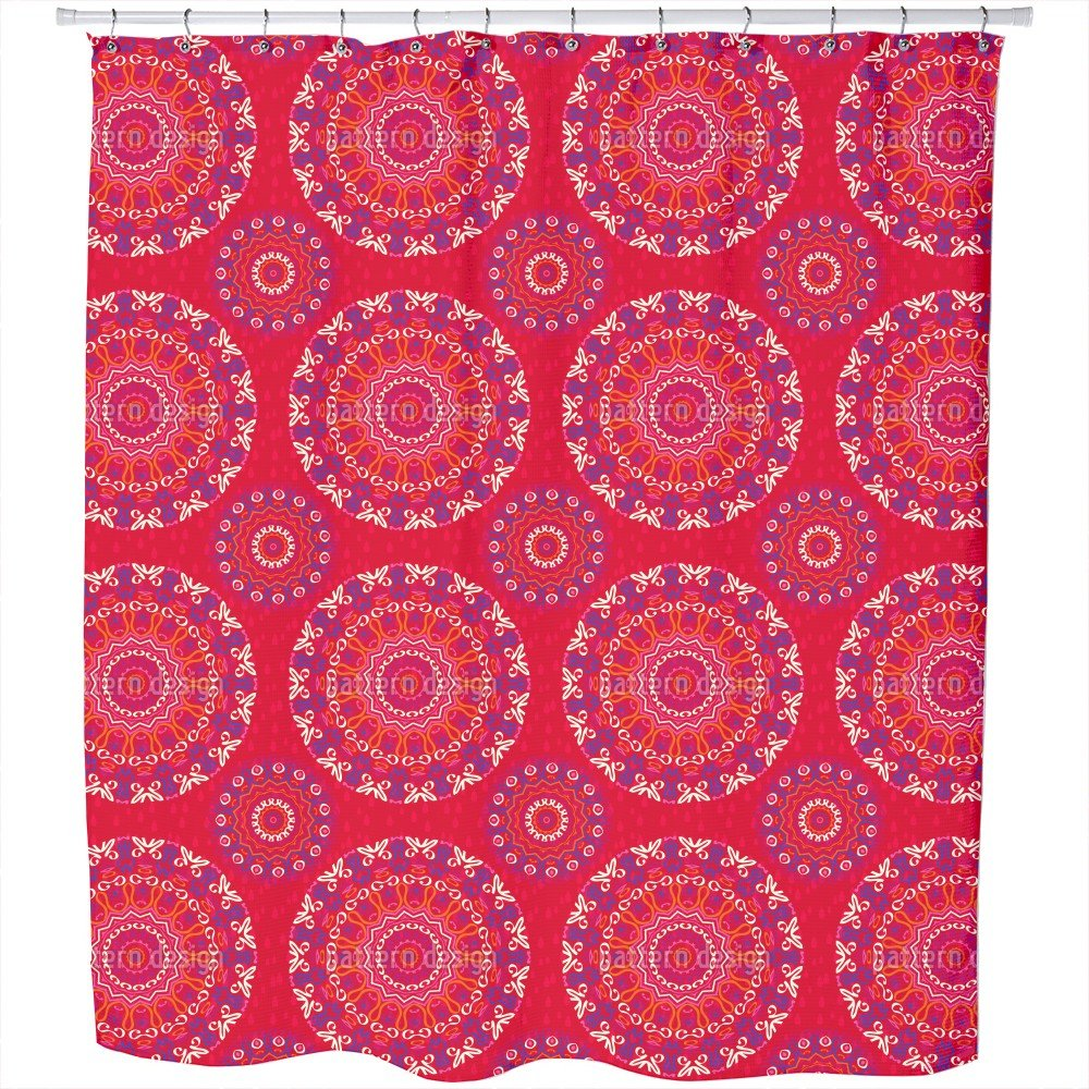 Mandala Kids Shower Curtain: Large Waterproof Luxurious Bathroom Design Woven Fabric