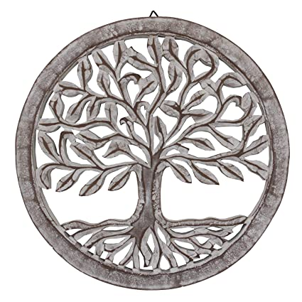 718ea5fef6e2 Image Unavailable. Image not available for. Color: DharmaObjects  Handcrafted Wooden Tree Life Wall Decor Hanging ...