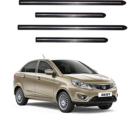 Trigcars Tata Zest Car Side Beading With Chrome Line Set Of 4