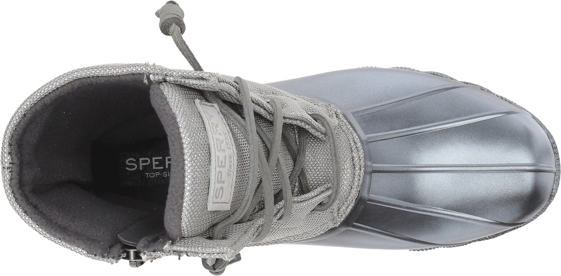 Sperry Top-Sider Women's Saltwater Pearlized Rain Boot, Gunmetal, 9.5 Medium US by Sperry Top-Sider (Image #2)