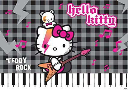 Hello Kitty Rock Wallpaper Mural Amazon Com