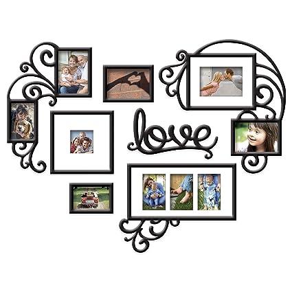 Amazon.com - 7-piece Love Photo Collage Frame Set in Satin Black -