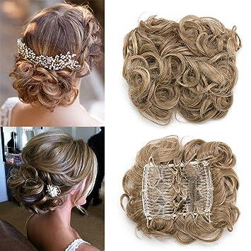 Tess Haargummi Haarteil Dutt Synthetik Haare Für Haarknoten Zopf