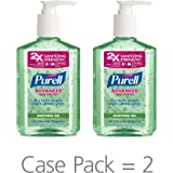 PURELL Advanced Hand Sanitizer Gel, Refreshing Aloe, 8 fl oz Hand Sanitizer Counter Top Pump Bottles (Pack of 2) - 9674-06-EC2PK