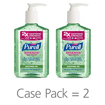 Amazon Com Purell Advanced Hand Sanitizer Soothing Gel Fresh