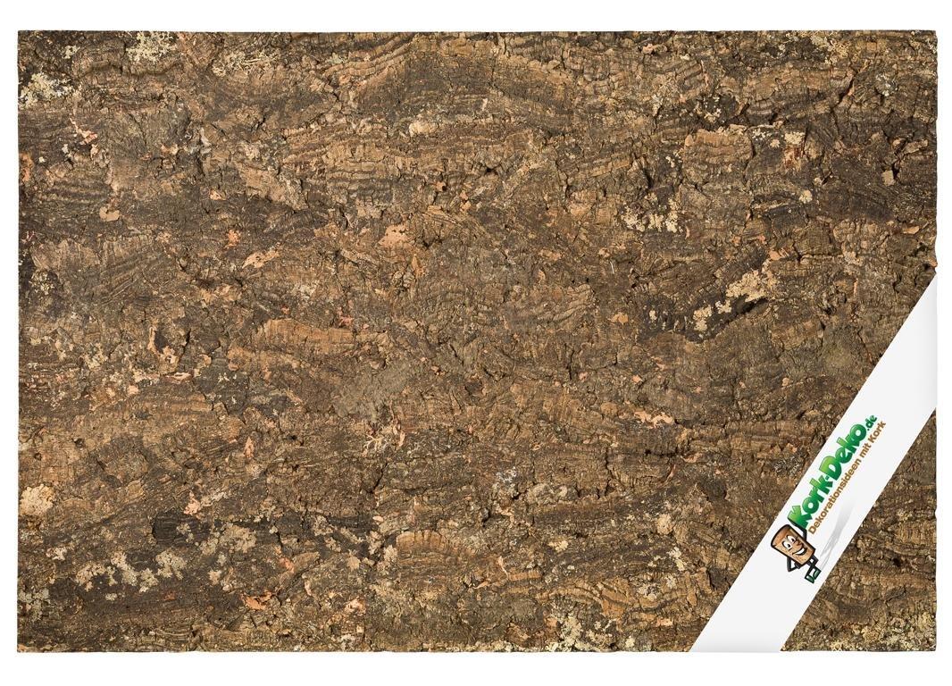 Kork-Deko Plaque Arrière Taille XL en Bouchon (liège) (Mur arrière pour Terrarium), Plaque arrière en Bouchon en 3D 90 x 60 cm