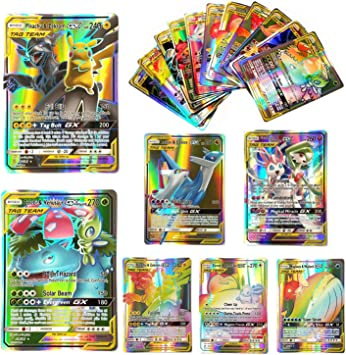 Dorara 100 Piezas Pokemon GX Flash Tarjetas Style TCG Holo Puzzle ...