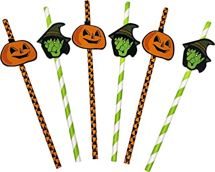 Amazon Com 50 Pack Halloween Themed Recyclable Paper Party