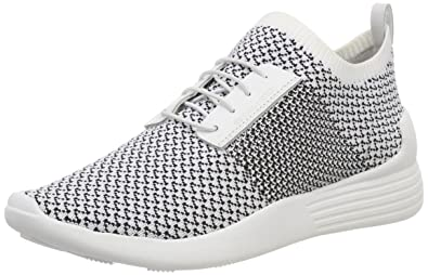 Kendall + Kylie Damen KKBRANDY6 Sneaker, Weiß (White+Black Knit 000), 38 EU